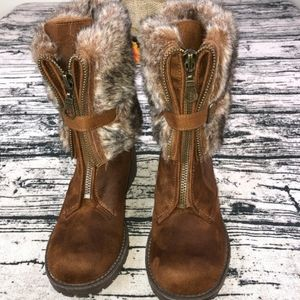 COPY - Unlisted suede fur boots 8.5